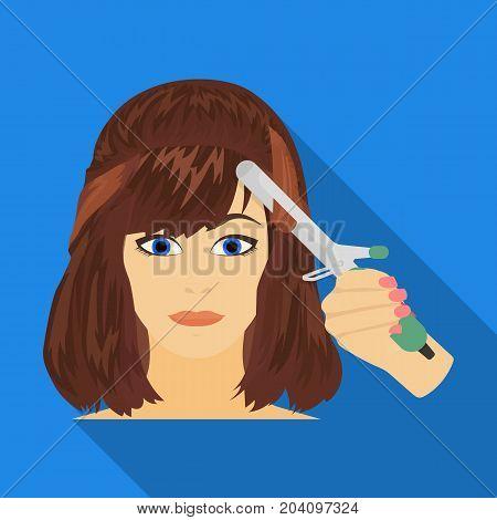 Hair single icon in flat style.Hair, vector symbol stock illustration .