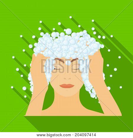 Foam single icon in flat style. Foam vector symbol stock illustration.