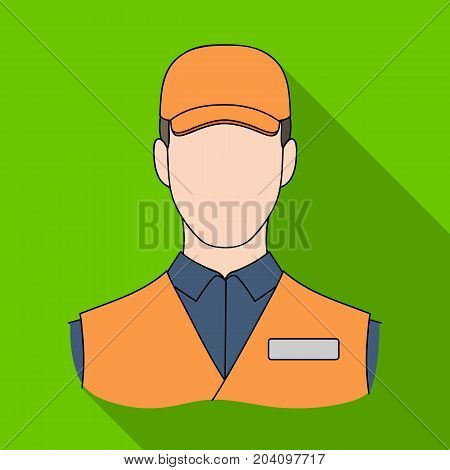 Man single icon in flat style.Man, vector symbol stock illustration .