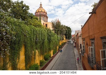 November 19 2014 San Miguel de Allende Mexico: colonial architecture is a main feature of the popular tourist destination town