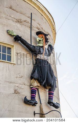 This poor witch flew into a wall.