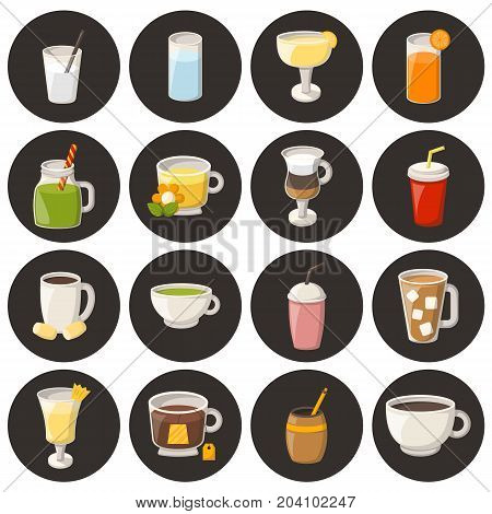 Vector Cartoon Non Alcoholic Drinks