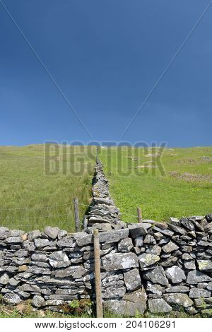Drystone wall in Troutbeck Valley, English Lake District