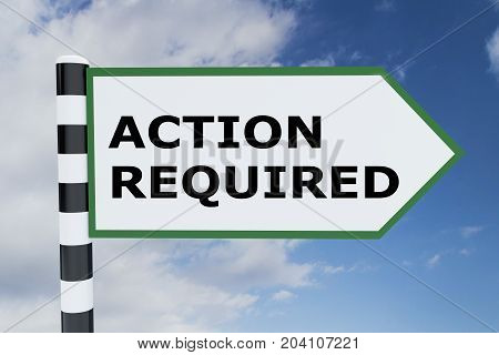 Action Required Concept