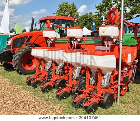 Tractor and crop sprayer machinery at the fair
