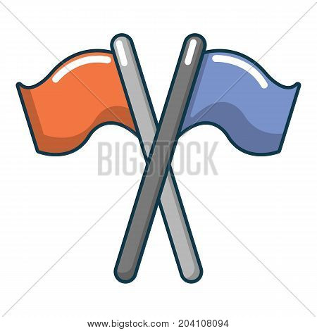 Paintball flags icon. Cartoon illustration of paintball flags vector icon for web