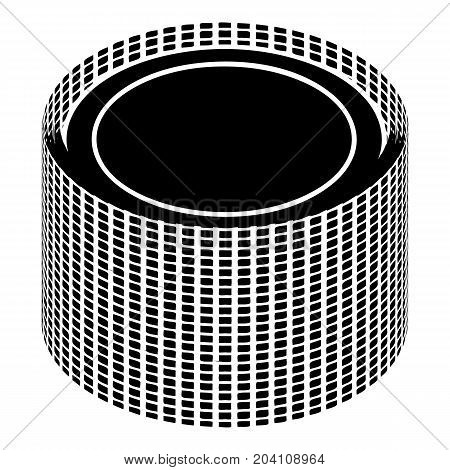 Building roll net icon. Simple illustration of building roll net vector icon for web design isolated on white background
