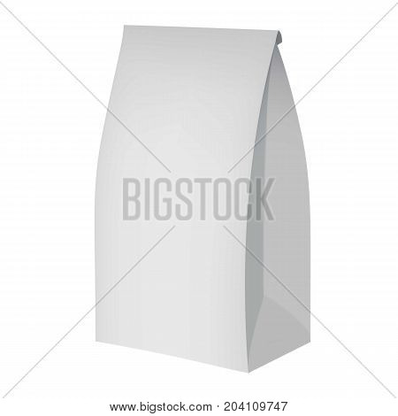Eco paper packing mockup. Realistic illustration of eco paper packing vector mockup for web design isolated on white background