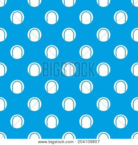 Black and white tennis ball pattern repeat seamless in blue color for any design. Vector geometric illustration