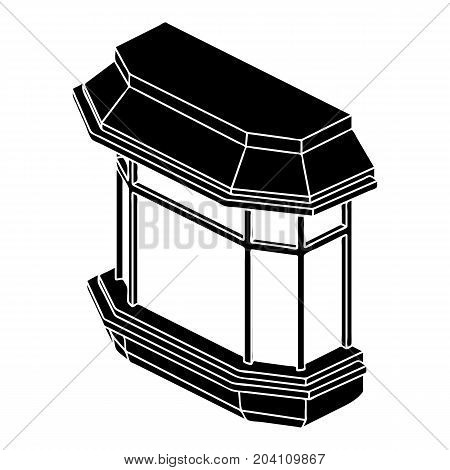 Window balcony icon. Simple illustration of window balcony vector icon for web design isolated on white background