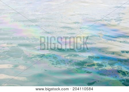 abstract colrful oil slick on the water background