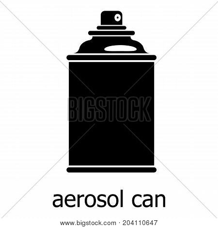 Aerosol can icon. Simple illustration of aerosol can vector icon for web