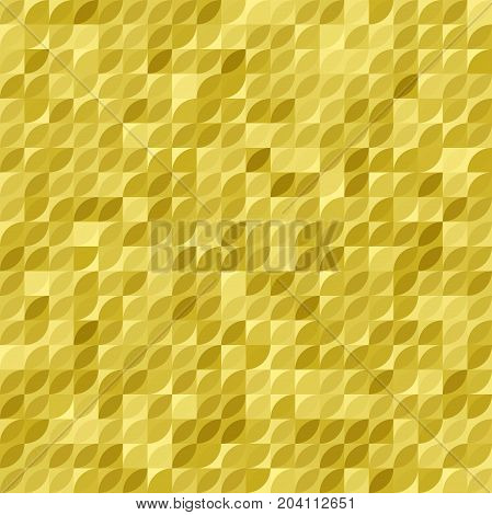 Geometric vector goden pattern. Abstract geometric background with golden ornament