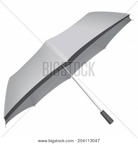 Automatic umbrella mockup. Realistic illustration of automatic umbrella vector mockup for web design isolated on white background