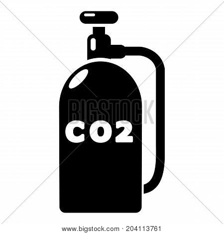 Paintball carbon dioxide canister icon. Simple illustration of paintball carbon dioxide canister vector icon for web design