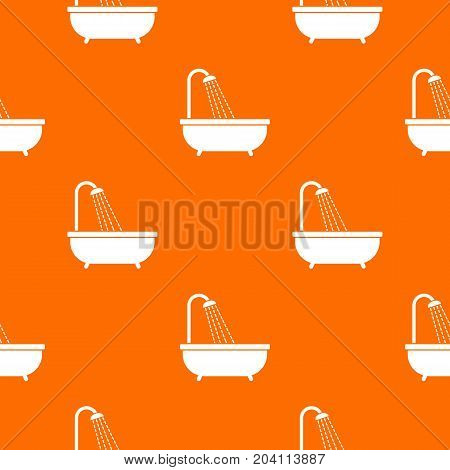 Shower pattern repeat seamless in orange color for any design. Vector geometric illustration