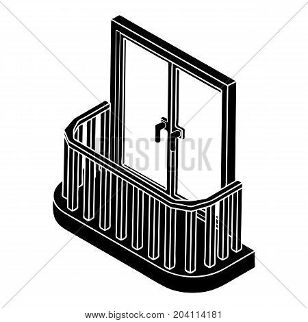 Modern balcony icon. Simple illustration of modern balcony vector icon for web design isolated on white background