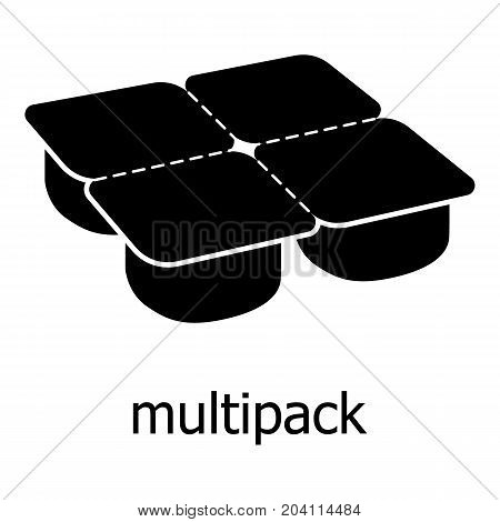 Many packages icon. Simple illustration of many packages vector icon for web