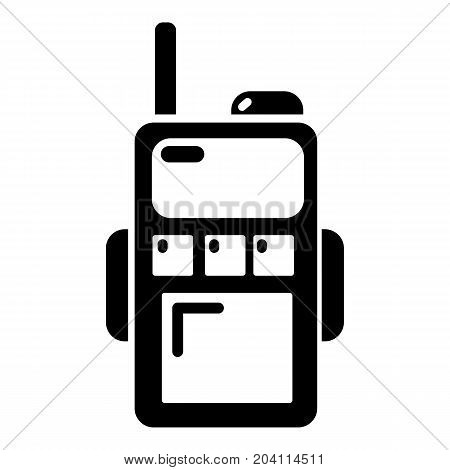 Paintball walkie talkie icon. Simple illustration of paintball walkie talkie vector icon for web design