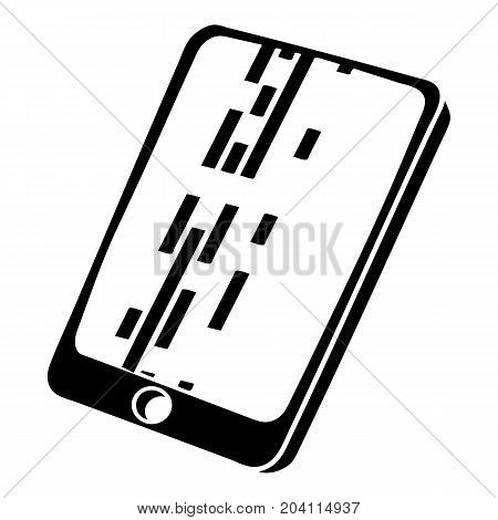 Dead pixel smartphone icon. Simple illustration of dead pixel smartphone vector icon for web