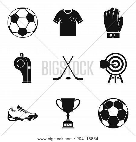 Referee icons set. Simple set of 9 referee vector icons for web isolated on white background