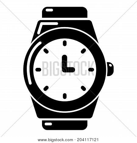 Wristwatch icon . Simple illustration of wristwatch vector icon for web design isolated on white background