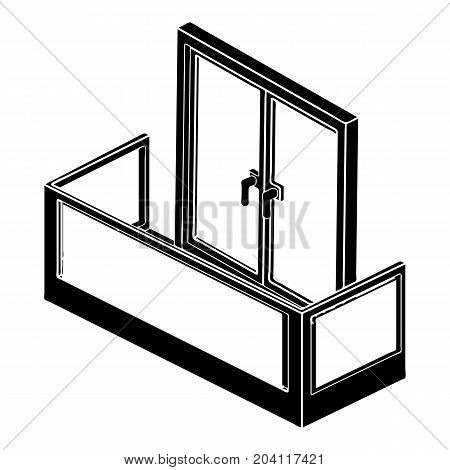 Glass balcony icon. Simple illustration of glass balcony vector icon for web design isolated on white background