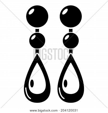 Pearl earrings icon . Simple illustration of pearl earrings vector icon for web design isolated on white background