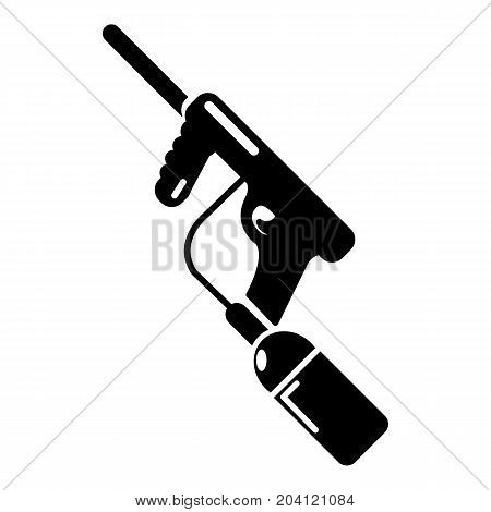 Paintball gun charging icon. Simple illustration of paintball gun charging vector icon for web