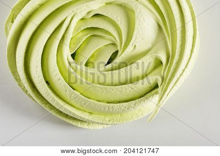 Closeup Part Of Green Meringue Swirl Cookie