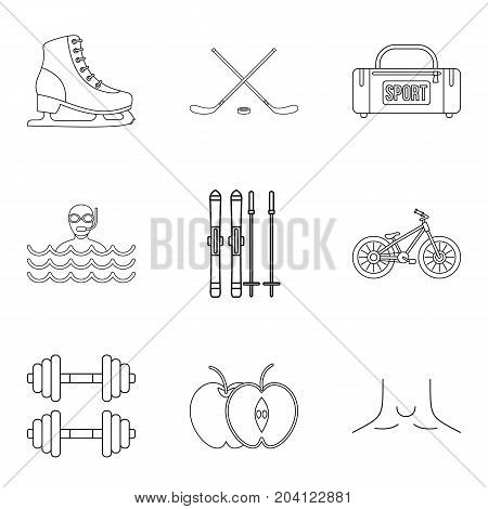 Curative source icons set. Outline set of 9 curative source vector icons for web isolated on white background