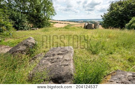 The Coldrum Long Barrow or Coldrum Stones is the remains of an early neolithic barrow built around 4000BC near Trottiscliffe in the English county of Kent.
