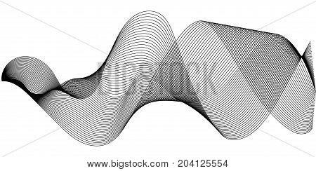 Music sound waves set, Sound waves oscillating glow, vector Music digital equalizer. halftone sound wave illustration