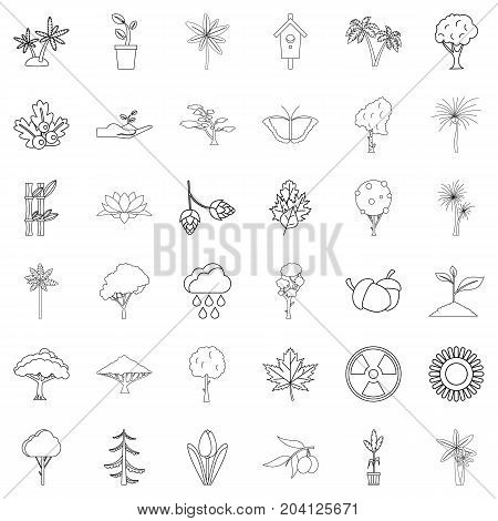 Berry icons set. Outline style of 36 berry vector icons for web isolated on white background
