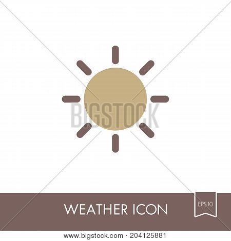 Sun flat icon. Meteorology. Weather. Vector illustration eps 10