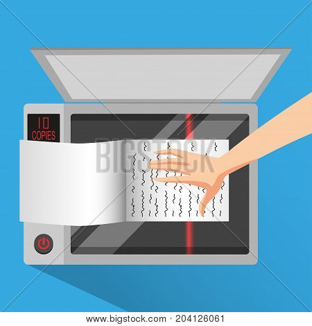 Hold the book to scanning with photocopier