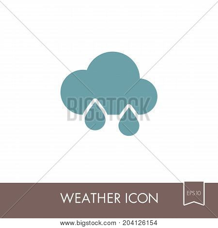 Rain Cloud outline icon. Meteorology. Weather. Vector illustration eps 10