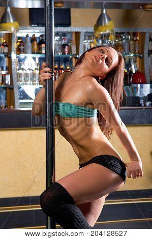 Striptease In Night Club