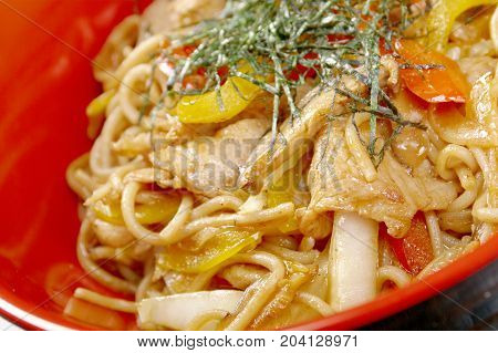 Pork  And  Soba With Vegetable