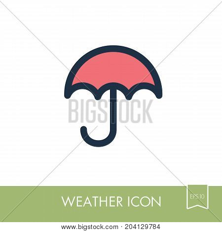 Umbrella Rain outline icon. Meteorology. Weather. Vector illustration eps 10