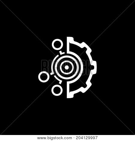 Set Up Business Goals Icon. Business and Finance. Isolated Illustration