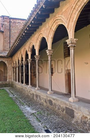 Cloister Of The Monastery Of Sant Joan De Les Abadesses, Ripolles, Girona