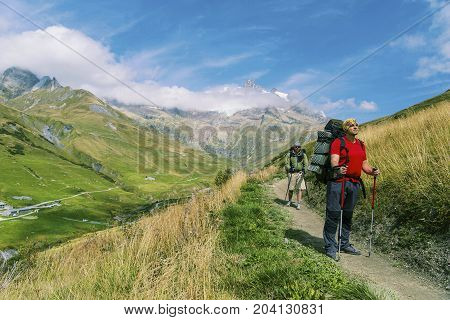 The Tour du Mont Blanc is a unique trek of approximately 200km around Mont Blanc that can be completed in between 7 and 10 days passing through Italy Switzerland and France.