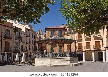 Main Square Of  Aranda De Duero, Burgos Province, Spain