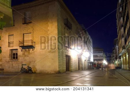 Nightlife In The Historical Center Of The City Of Palencia, Castilla Y Leon, Spain