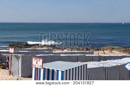 Beach Of Vila Do Conde In Douro Region, Northern Portugal