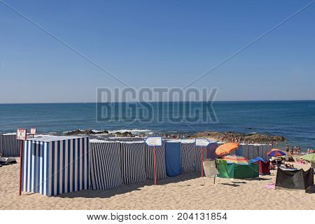 Vila do Conde beach at the Northern Portugal