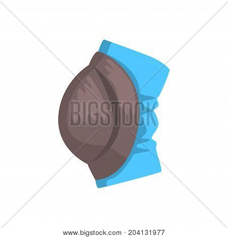 Protective knee pad cartoon vector Illustration on a white background