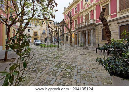 Plaza Del Padre Suarez In Granada