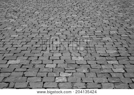 Black Sett Pavement Background